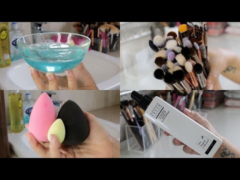 How to clean Beauty Blenders + 2 Ways To Clean Makeup Brushes