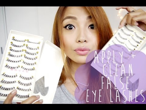 HOW TO: APPLY and CLEAN False Eyelashes