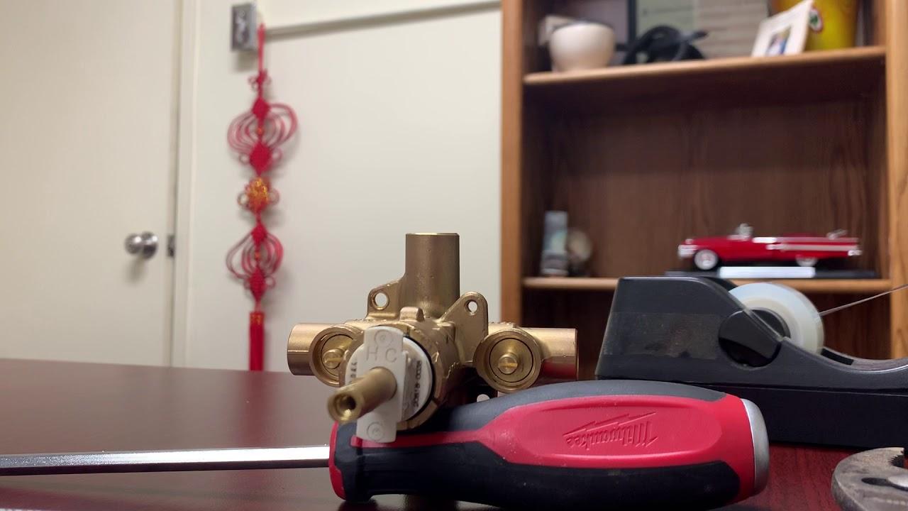 Moen shower valve demonstration