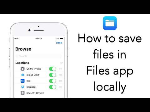 How to use Files app to save files locally in your iPhone/ iPad