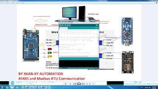 Arduino Master Slave RS485 MODBUS RTU Schneider electric