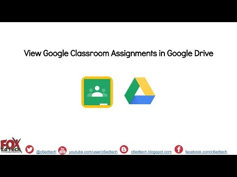 View Google Classroom Documents in Google Drive