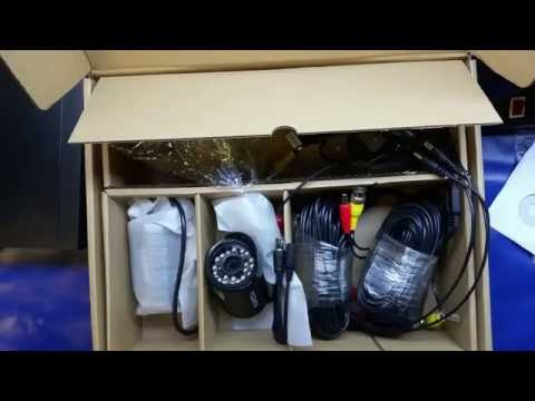 PART 1: 720p Floureon CCTV security camera & DVR system unboxing