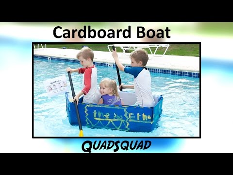 How to Build a Cardboard Boat - Fun Science Project for Kids