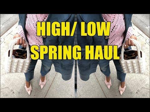 SPRING HAUL & TRY ON | LOEWE, H&M,  CELINE, F21, CHLOE!!