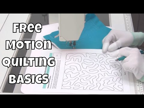 Beginner Free Motion Quilting Stippling - Quilting Basics Tutorial #7 with Leah Day