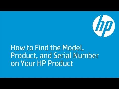 find hp model number linux command line