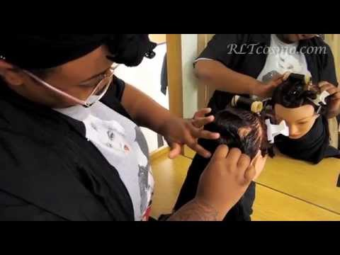 State Board Curl Demo/Roller Placement Texas PSI Cosmetology