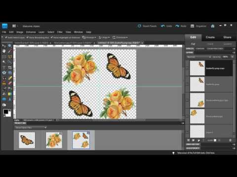 Photoshop Elements: Make a Diagonal Pattern from Clipart