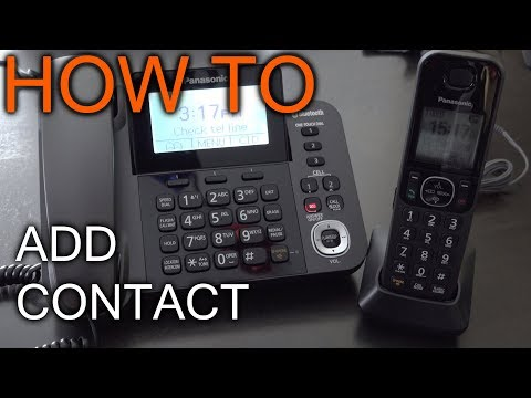 How to Add a contact To panasonic Phone