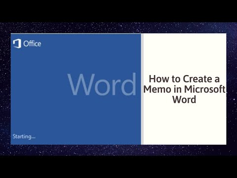 How to Create a Memo in Microsoft Word 2010
