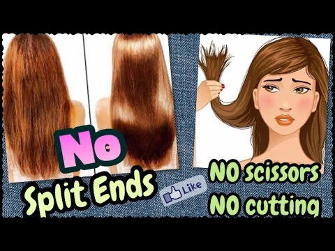 How to Get Rid of Split Ends INSTANTLY - NO Scissors NO Cutting | Miracle Natural Home Remedy