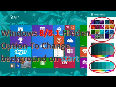 How to change background colours on  start in windows 8/8.1