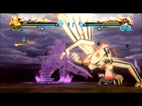Naruto Storm Revolution Demo Gameplay Bijuu Naruto vs EMS Sasuke