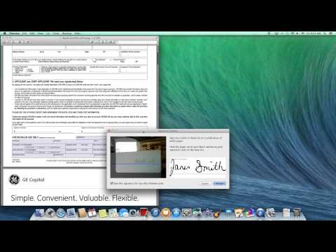How to Sign a PDF document on your Mac computer