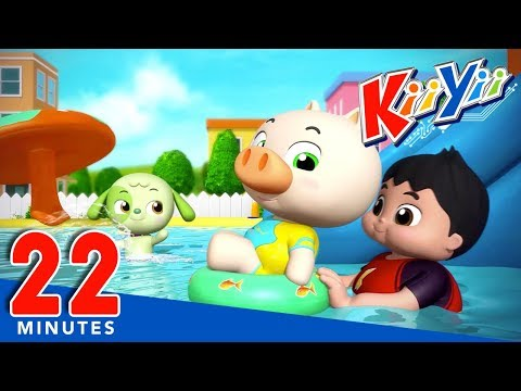 Swimming Song | Plus Lots More Nursery Rhymes | 22 Minutes Compilation from KiiYii!