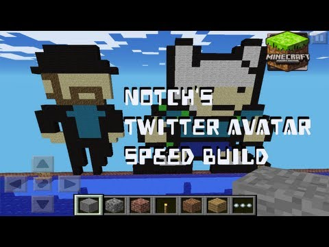 Notch Twitter Avatar - Minecraft Pocket Edition Speed Build