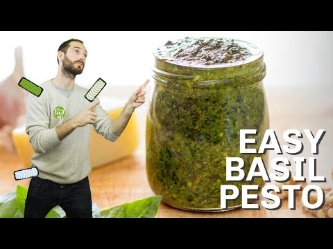 Easy Basil Pesto | Hurry The Food Up