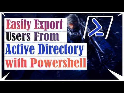Easily Export Users from Active Directory with Powershell |  Windows Server 2012 R2