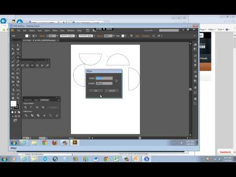 Half Circle using Adobe Illustrator