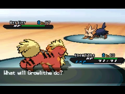 Pokemon Black and White 2 Walkthrough Part 12 - Growlithe