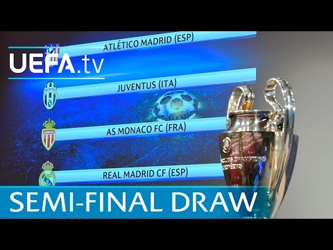 Watch the full UEFA Champions League semi-final draw 2016/17