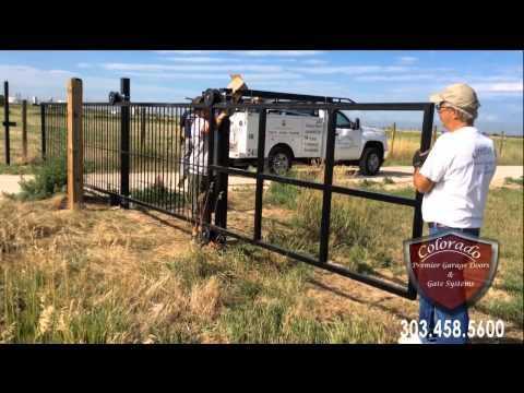 Denver Cantilever Driveway Gate Installation