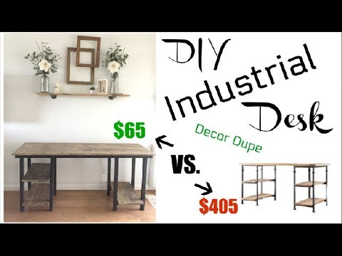DIY INDUSTRIAL FARMHOUSE DESK $65 | How To Build A Desk | Momma From Scratch