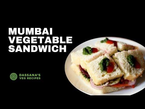 mumbai veg sandwich recipe - how to make bombay veg sandwich recipe