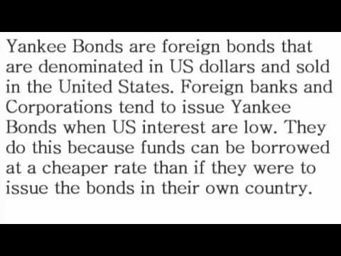 Yankee Bond - What is the Definition? - Financial Dictionary by Subjectmoney.com