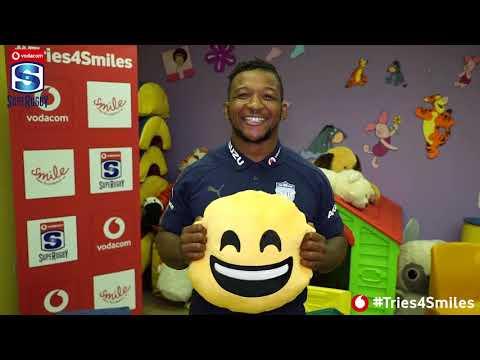 Vodacom #Tries4Smiles Hospital Visit with the Vodacom Bulls