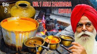 Punjab's No 1 Zimidara Highway Dhaba | Street Food India | Pure Desi Dhaba Food