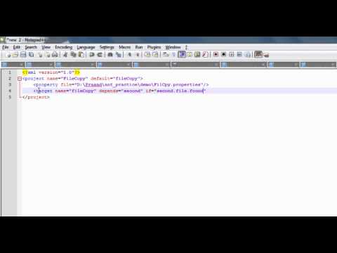 Ant script tutorial for processing files based on availability