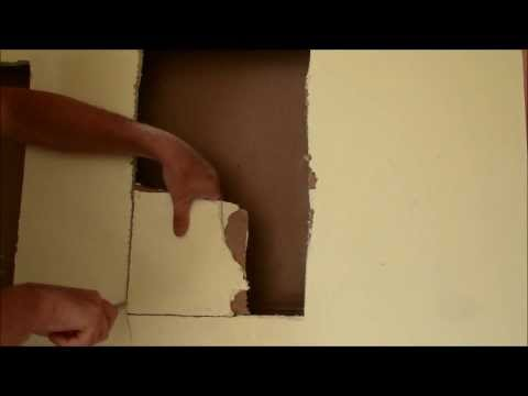 Drywall Repair Tip - Cut the Patch, then cut the Hole
