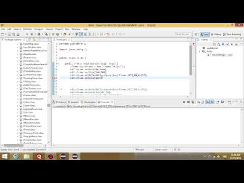 Java GUI tutorial 2 - creating components, adding components to panel