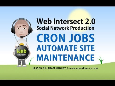 8. Cron Job Automate Social Network Web Site Maintenance PHP Tutorial
