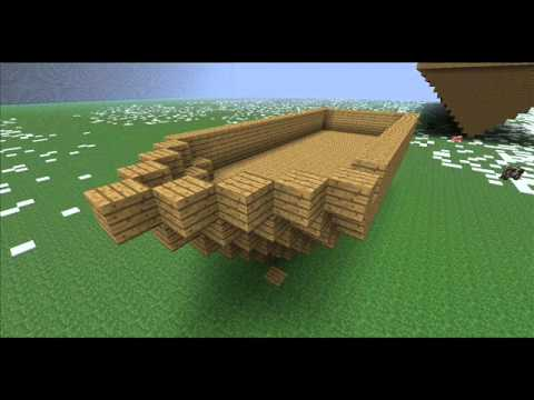Minecraft how to make a pirate ship