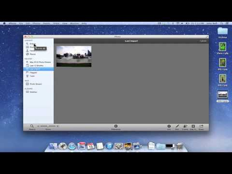 How To Import A Photo Into iPhoto On A Mac