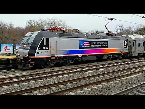 NJ Transit Veterans unit departs Princeton Junction