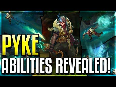 PYKE ALL ABILITIES REVEALED!! The Bloodharbor Ripper! New Assassin Champion - League of Legends