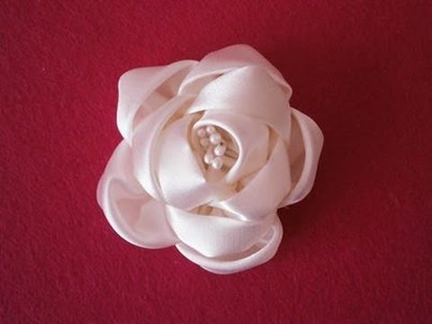 How to make kanzashi flower, DIY,ribbon flowers tutorial,kanzashi flores de cinta