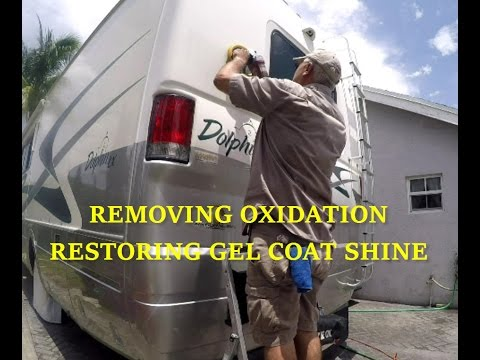 REMOVE OXIDATION | RESTORE GEL COAT SHINE FIBERGLASS RV or BOAT using Meguiars compound & polish kit