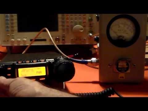 Testing a Yaesu FT857D Output Power on VHF&UHF FM.
