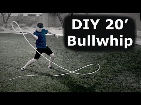 How To Make a 20' Bullwhip - DIY Build