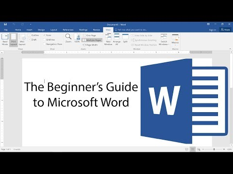 Beginner's Guide to Microsoft Word - 2017 Tutorial