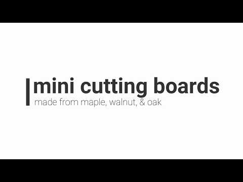 I build 2 Mini Cutting Boards