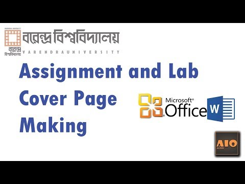 How To make a Cover Page for Assignments and Lab Report With Microsoft Word