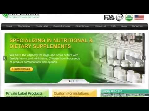 Superior Supplement and Vitamin Manufacturing - capsules, tablets, powders, packaging and more...