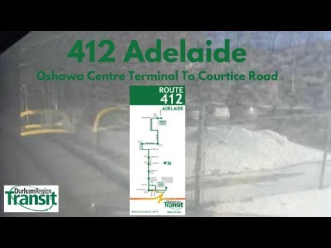 DRT 2015 NovaBus LFS #8551 On 412 Adelaide (Oshawa Centre Term To Courtice Road - Full)