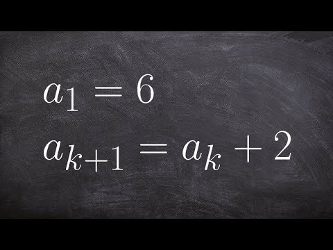 How to determine the first five terms for a recursive sequence